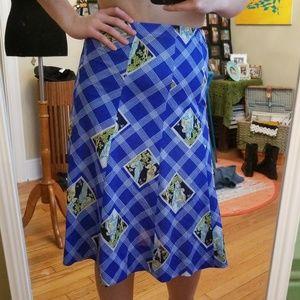 VTG Gorgeous Goddesses Fit & Flare Midi Skirt